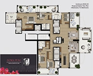 Continuum North Combo 3301-03 Proposed 5 Bedroom Floorplan